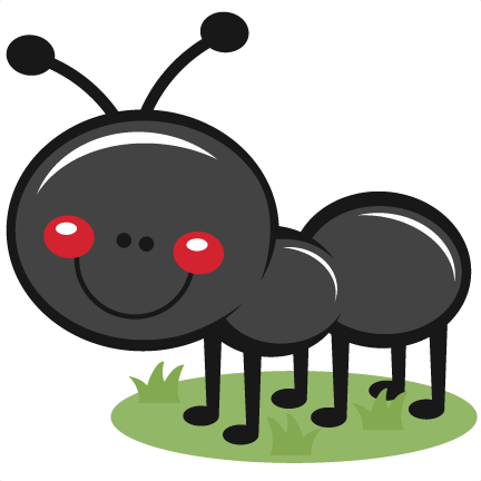 Ant clipart cute. In grass svg scrapbook