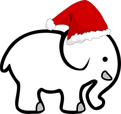 Knee slapping white gifts. Ant clipart elephant