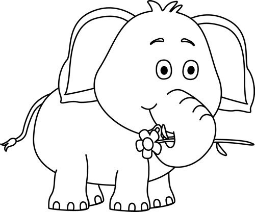 Black and white cute. Ant clipart elephant