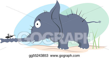 Drawing and gg . Ant clipart elephant