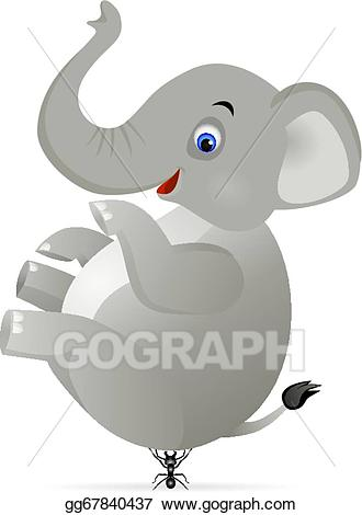 Ant clipart elephant. Vector stock and clip