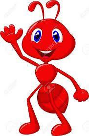 Cartoon mascot stock photo. Ant clipart face