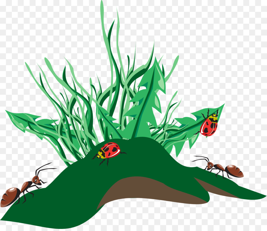 Tree background green leaf. Ants clipart family