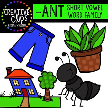 Ant clipart family. Short a word creative