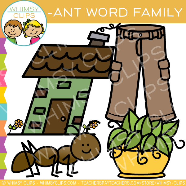 Word clip art images. Ant clipart family