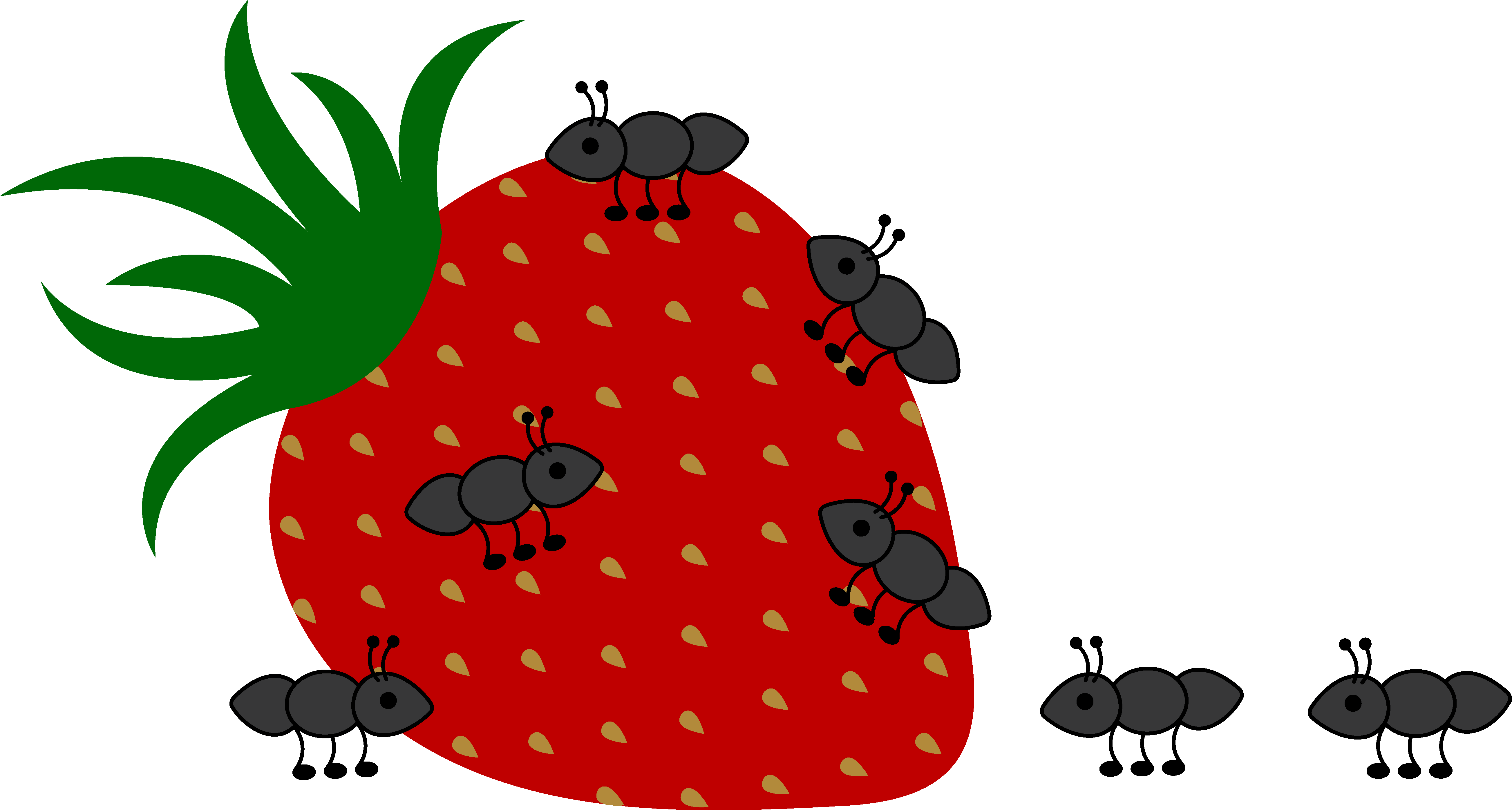 Lemons clipart strawberry. Picnic ants clip art