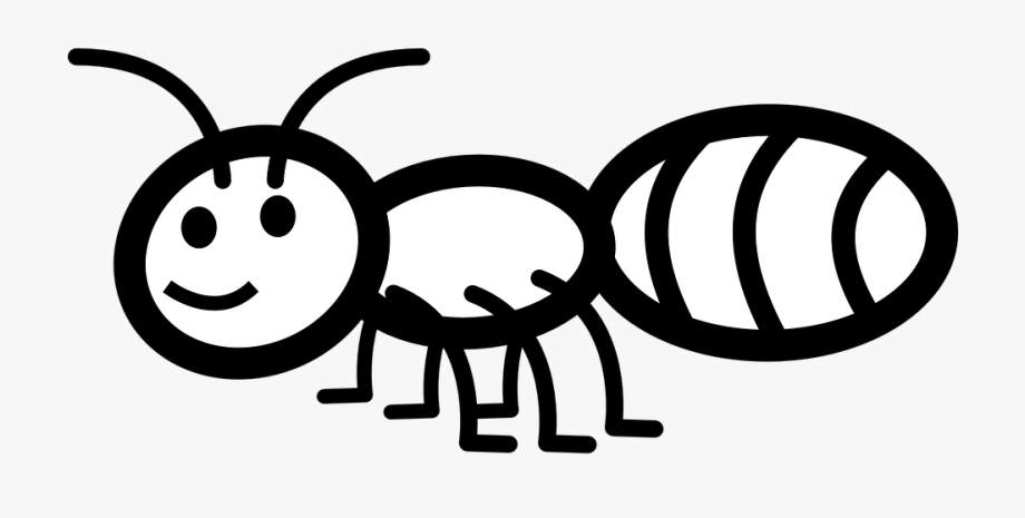 Bug insect smile black. Ant clipart friendly
