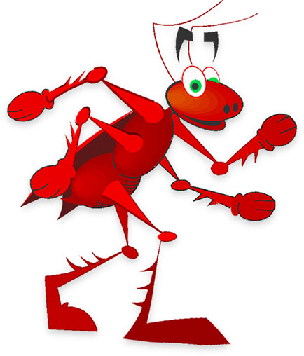 Ant clipart happy. Free black ants red