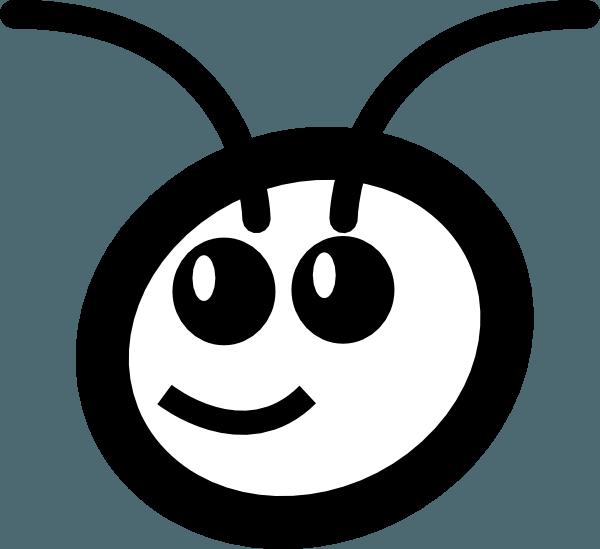 Ant clipart happy. Black and white classpath