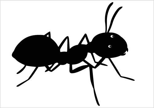 Ants clipart small ant. Pencil happy free pnglogocoloring