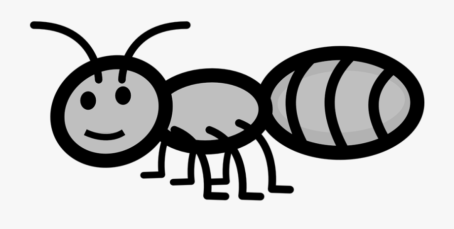 Smile antenna grey legs. Ant clipart happy