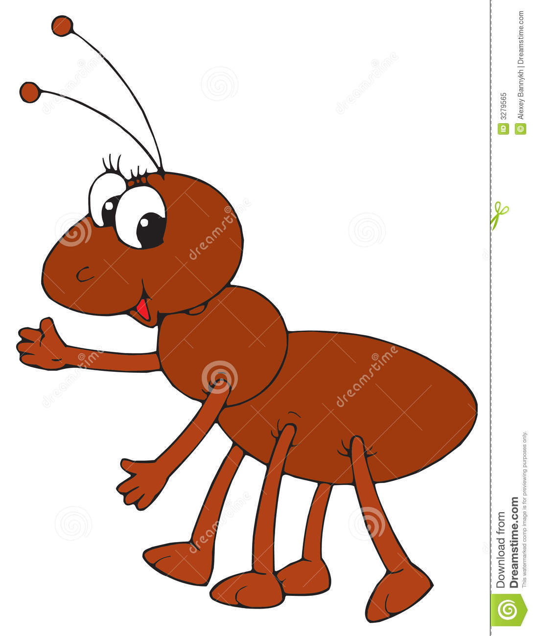 Ant clipart happy. Brown