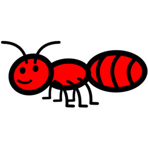 Ant clipart illustration. Black and white for