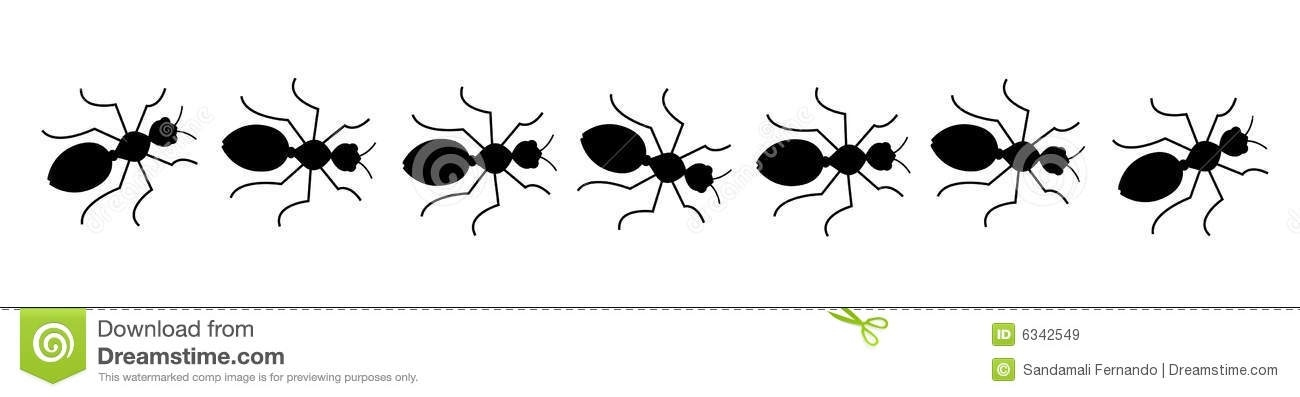 Ants clipart line. Of letters ant trail