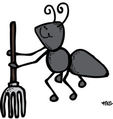 Pencil and in color. Ant clipart melonheadz