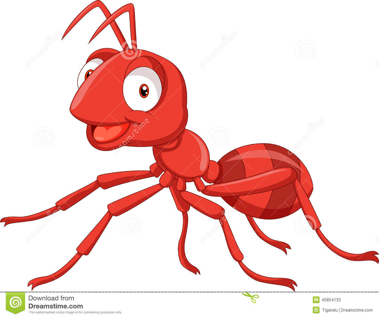 Red ant . Ants clipart name
