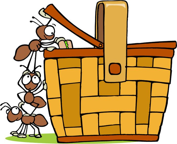 Ants clipart family. Picnic basket with clip