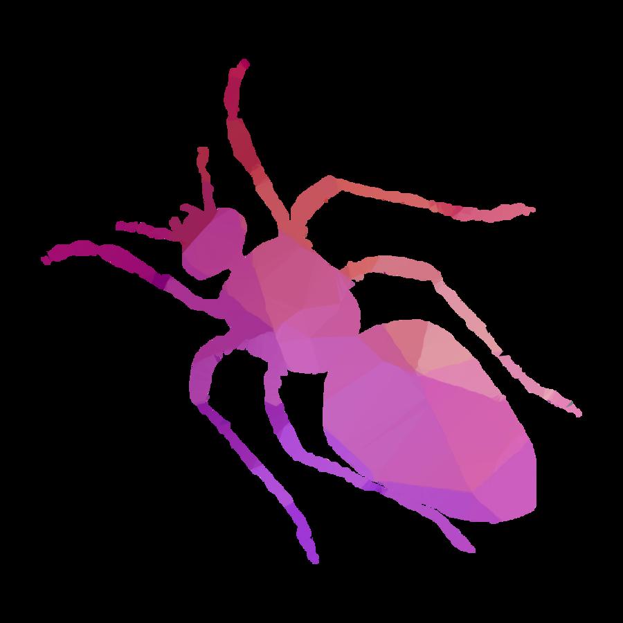 Cartoon sticker purple transparent. Ant clipart pink