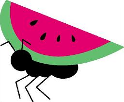 Ant clipart pink. Picnic basket with ants