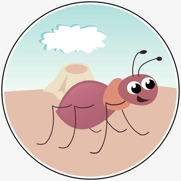 Ant clipart pink. Nest workers cartoon png