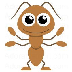 Ant clipart printable. Ka motyle owady biedronki