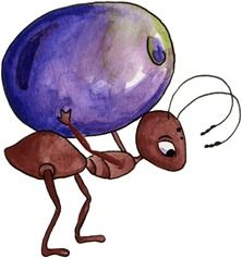 Imagem decoupage ant n. Ants clipart purple