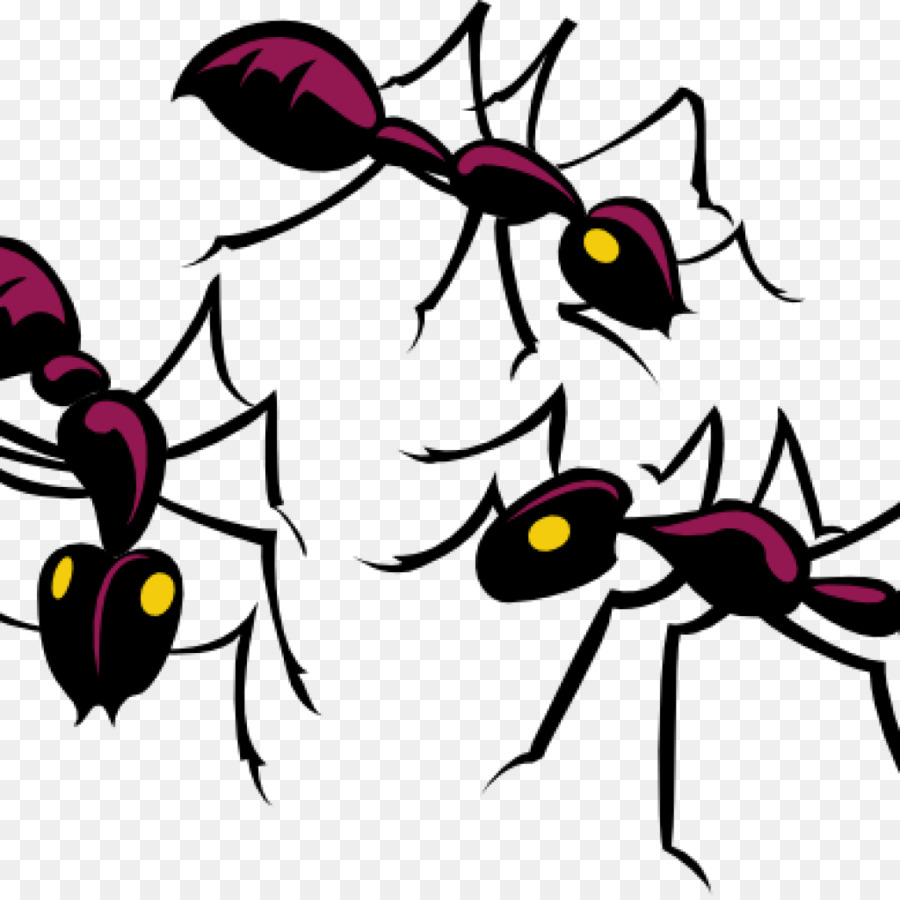 Ants clipart purple. Black and white flower