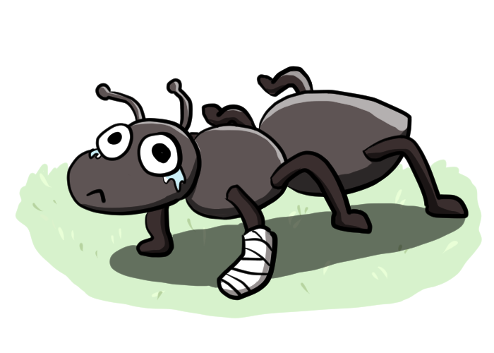 Ant clipart sad. We solved the mystery