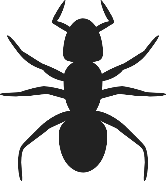 Ant clipart silhouette. Clip art at clker