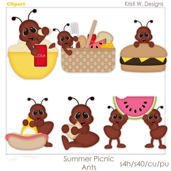 best kristi w. Ant clipart summer picnic