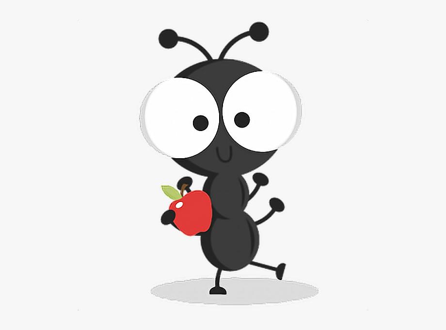 Apple bug cute remixit. Ant clipart summer picnic
