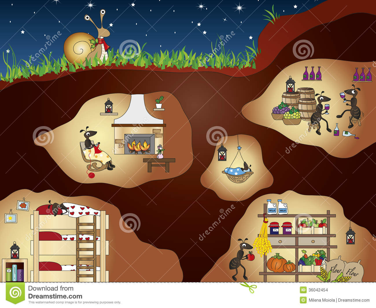 Ants clipart underground. Ant house pencil and