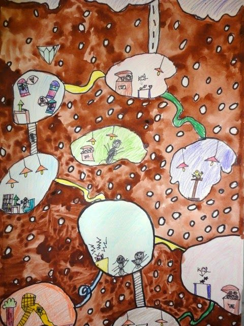 Ant clipart underground. Thomas elementary art the