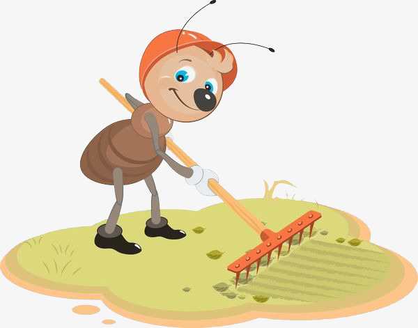 Ants do farm workers. Ant clipart work