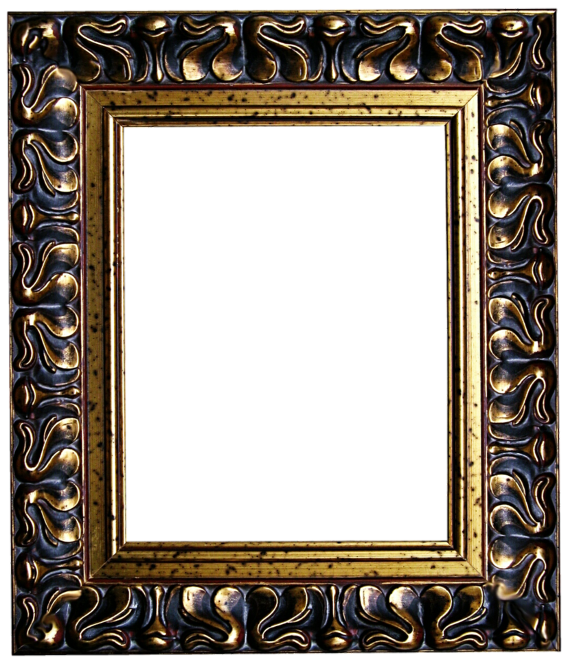 Black and gold by. Antique frame png