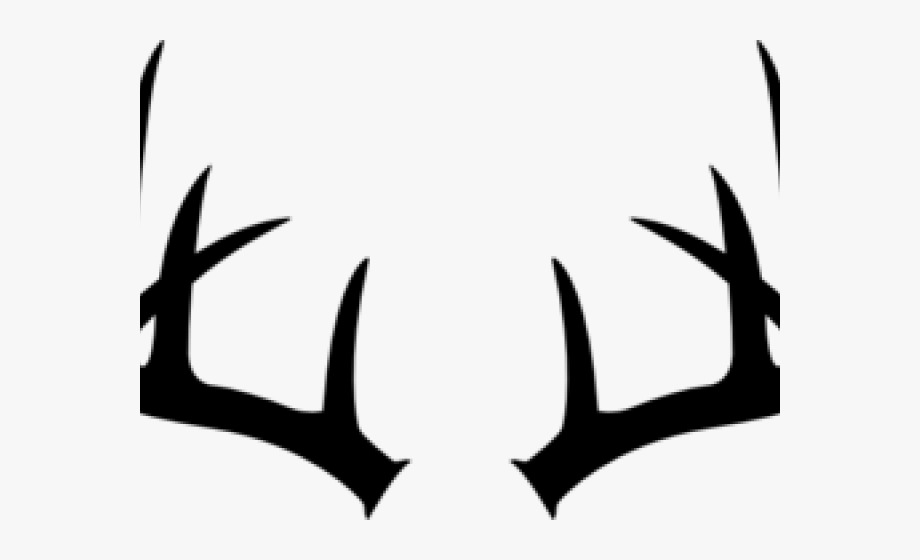 Deer antlers black and. Antler clipart