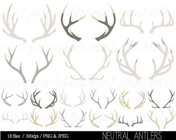 Antler clipart. Silhouette clip art stag
