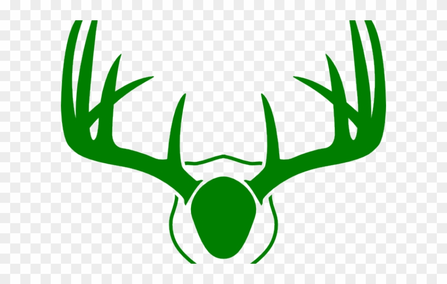 Antlers clipart deer antler. Coat arm whitetail silhouette