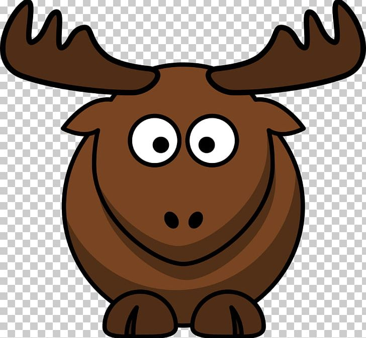 Elk moose cartoon png. Antler clipart animated