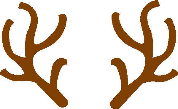 Reindeer antlers . Antler clipart animated