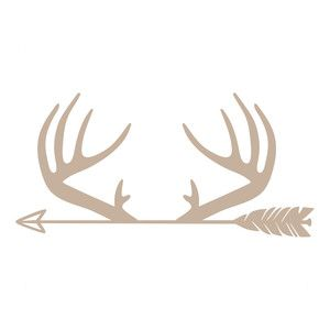 Antlers silhouette design and. Antler clipart arrow