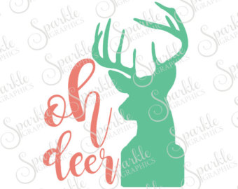 Svgs etsy oh cut. Antler clipart baby deer