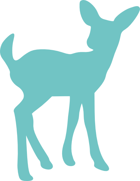 Baby deer silhouette clip. Babies clipart fawn