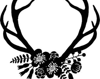 Antlers free download best. Antler clipart black and white
