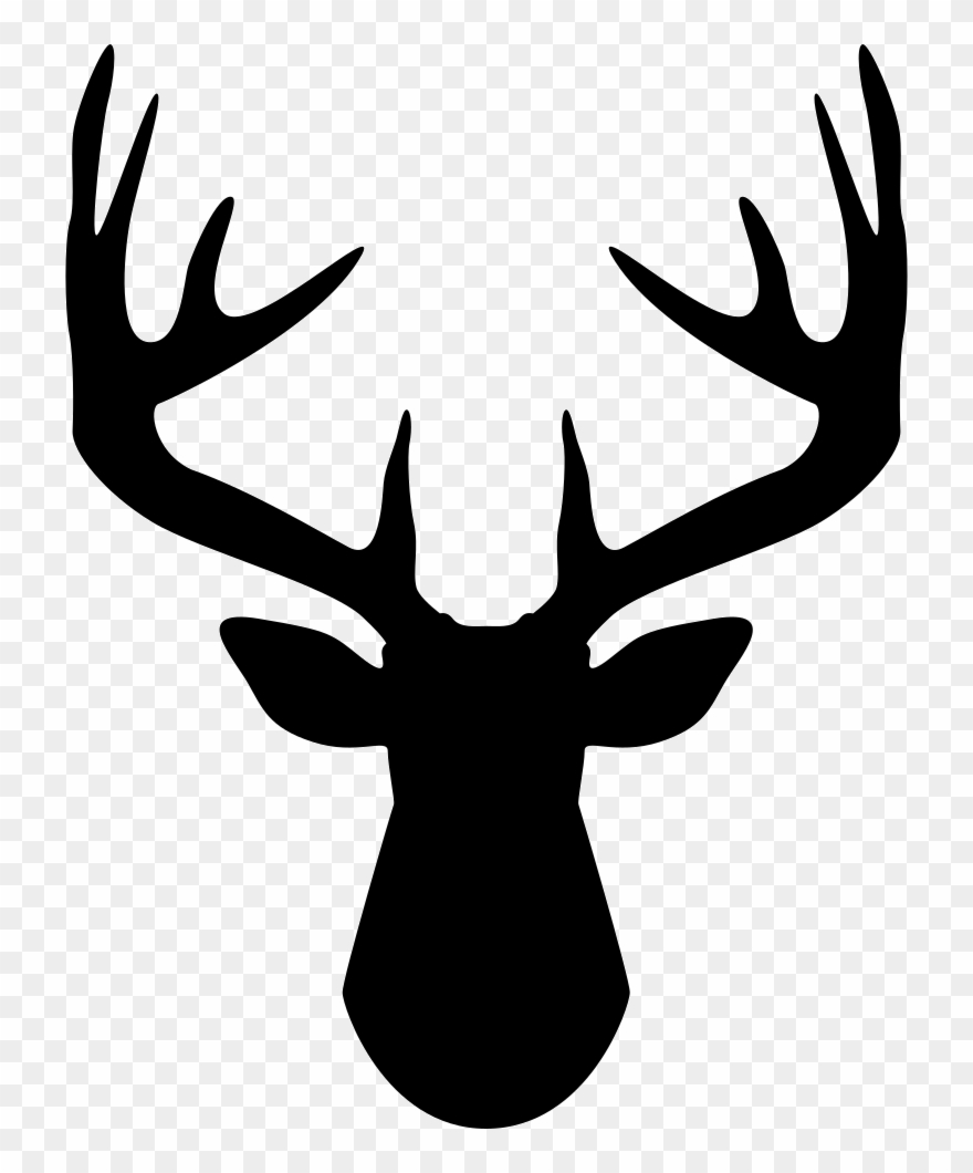Antlers clipart black and white. Footprints deer antler png