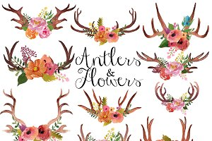 Antlers clipart boho. Clip art photos graphics