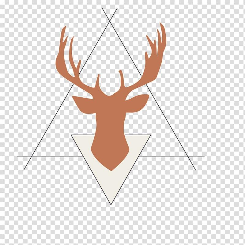 Antler clipart border. Rudolph reindeer silhouette triangle