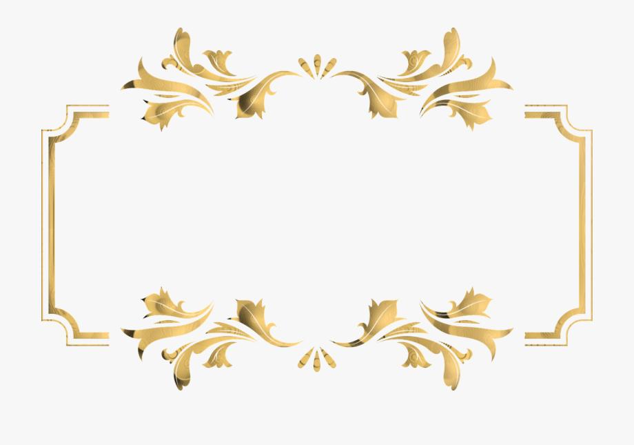 Golden png transparent . Antler clipart border