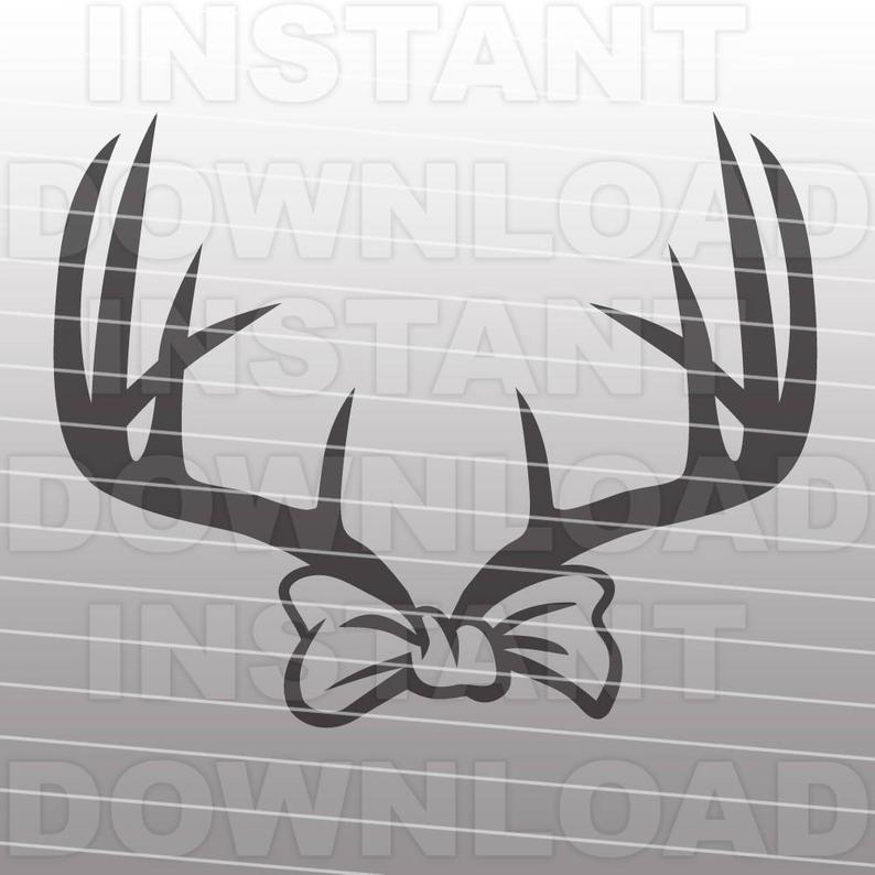 Deer svg file cutting. Antler clipart bow