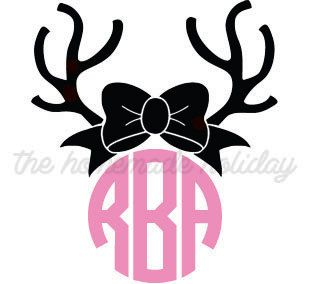 Antlers clipart bow.  collection of reindeer
